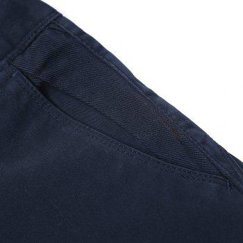 Pure Cotton of Men's Straight Tube  Lounge Pants - DEEP BLUE 28