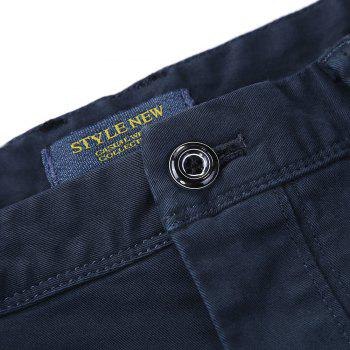 Pure Cotton of Men's Straight Tube  Lounge Pants - DEEP BLUE 32