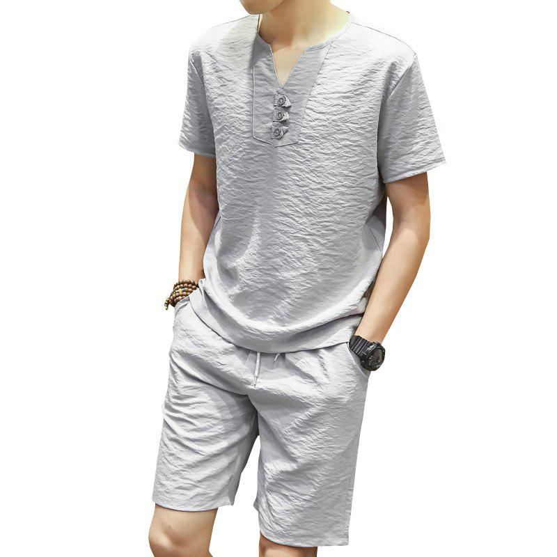 Summer Short Sleeved Shorts Leisure Sports Suit