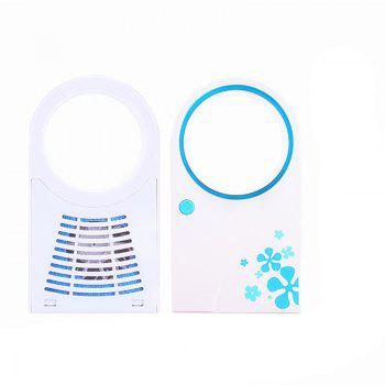 Hand-held USB Battery Amphibious Mini Air Conditioning Fan - BUTTERFLY BLUE