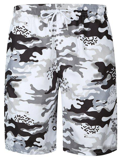 Quick-drying Colorful Beach Pants - WHITE L