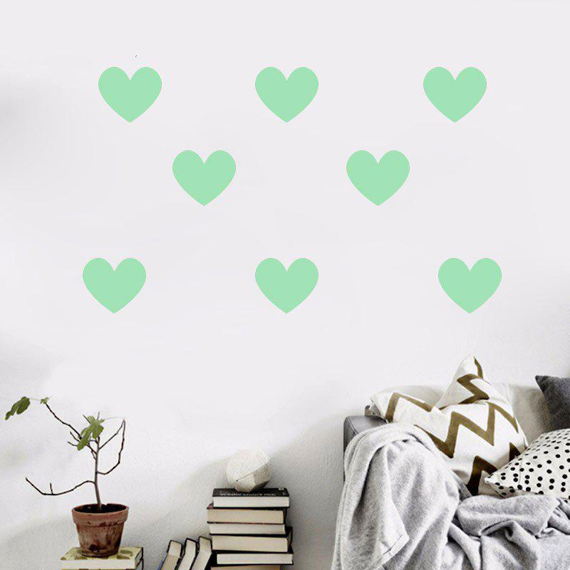 Noctilucent Engraving Adorable Heart Shaped Cartoon Switch Wall Sticker heart shaped tree door sticker