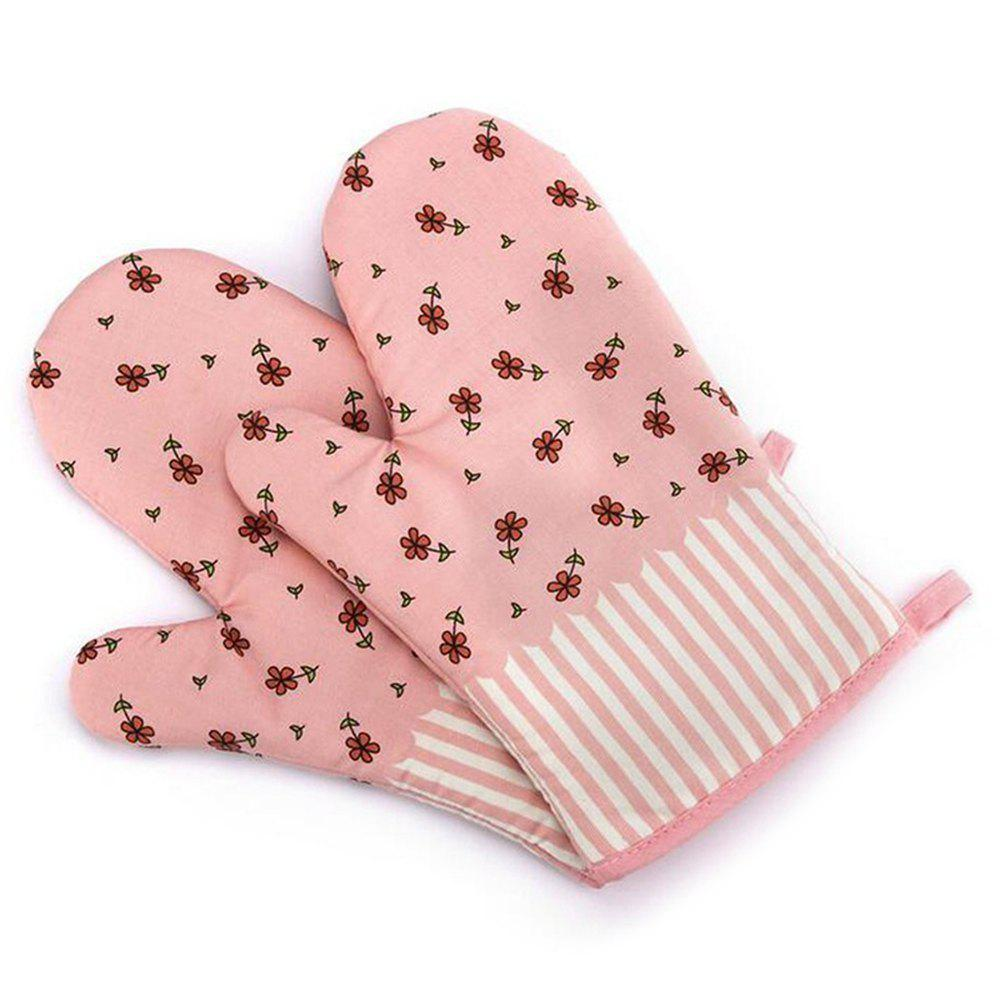 2pcs Microwave Oven Glove Heat Resistant Cotton Baking Kitchen Tool oven mitt flame resistant 100% cotton treated fabric each