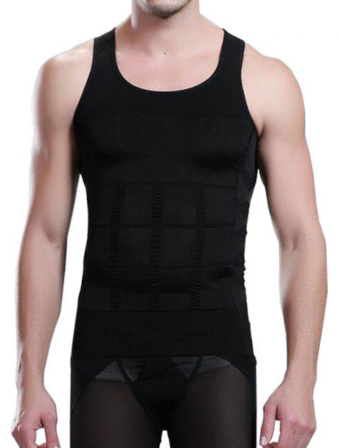 e12734c536c24 Men s Body Shaper Slimming Shirt Tummy Waist Vest - BLACK 2XL. Click to Zoom