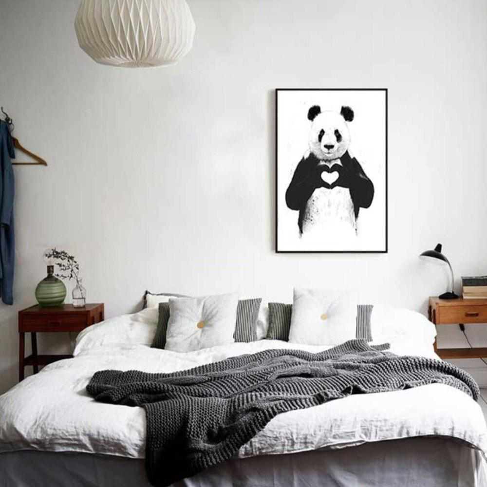 Creative American Style Fresh Panda Adornment Oil Painting led lamp creative lights fabric lampshade painting chandelier iron vintage chandeliers american style indoor lighting fixture