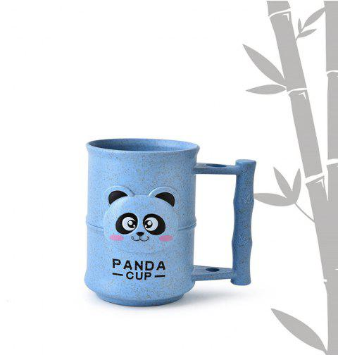 1PC Creative Design Adorable Cartoon Panda Pattern  Toothbrush Cup - CORNFLOWER BLUE