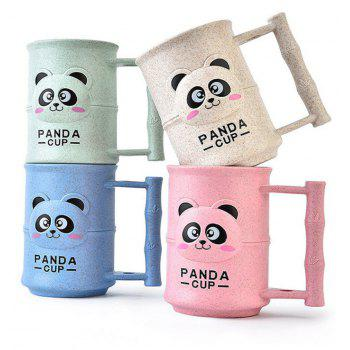 1PC Creative Design Adorable Cartoon Panda Pattern  Toothbrush Cup - FROG GREEN