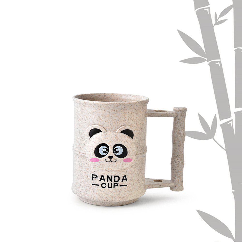 1PC Creative Design Adorable Cartoon Panda Pattern  Toothbrush Cup - WARM WHITE
