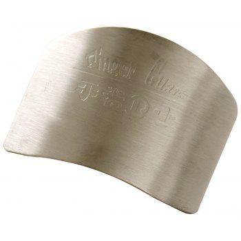 Kitchen Tools Stainless Steel Finger Hand Protector - SILVER
