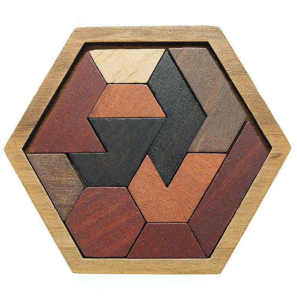 Creative Puzzles Wooden Tangram Jigsaw Board Geometric Shape Kid Educational Toy colorful wooden tangram brain teaser puzzle toys tetris game preschool magination intellectual educational kid toy gift