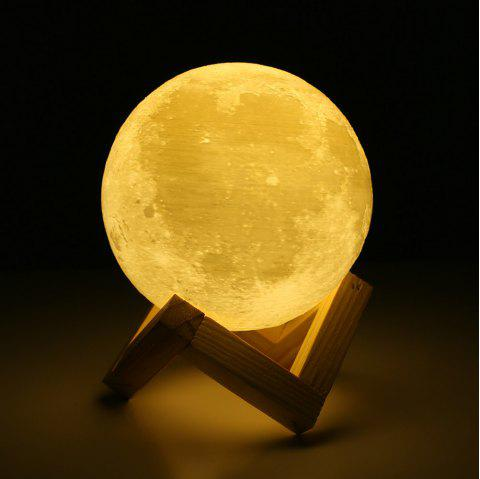 Touch Three-Color 3D Bedside Creative Led Luminous Moon Lamp - WHITE