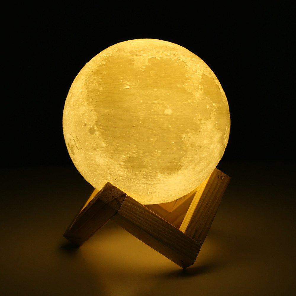 2018 Touch Three-Color 3D Bedside Creative Led Luminous Moon Lamp ...