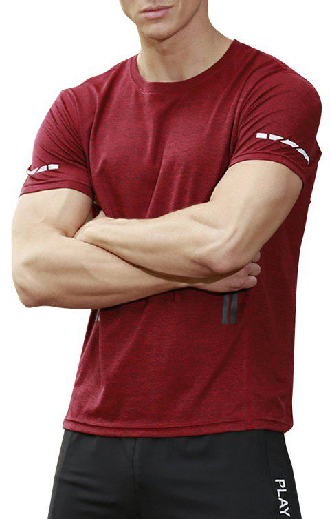 Men's Base Force Extremes Lightweight Short Sleeve T-Shirt - RED WINE S