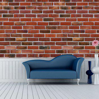 Brick Pattern Creative Removable Wall Stickers - multicolor