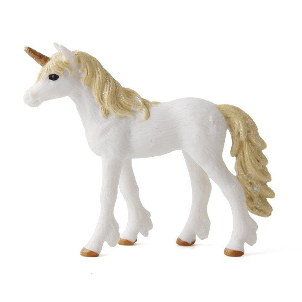 Fairy Tale Animal Big Unicorn Flying Horse Figure Model Wild Figurine Kids Toy big simulation black horse toy polyethylene
