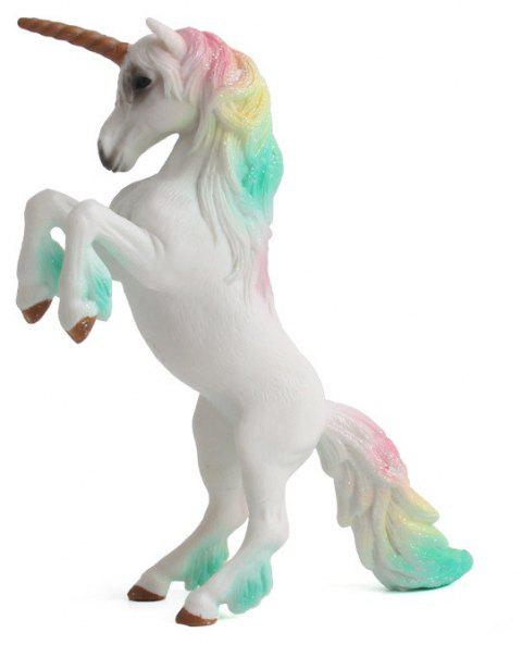 Luxury Fairy Tale Animal Big Unicorn Flying Horse Figure Model Wild Figurine Kid - multicolor B