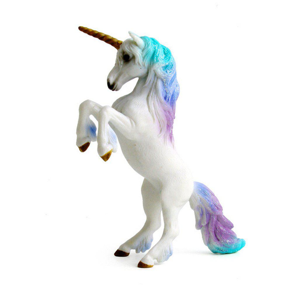 Luxury Fairy Tale Animal Big Unicorn Flying Horse Figure Model Wild Figurine Kid игровая приставка microsoft xbox one x 1tb черная