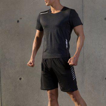 Men Quick Drying Sport Yago Fitness T-shirt - BLACK XL