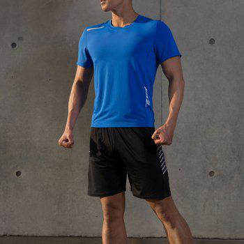 Men Quick Drying Sport Yago Fitness T-shirt - BLUE 3XL