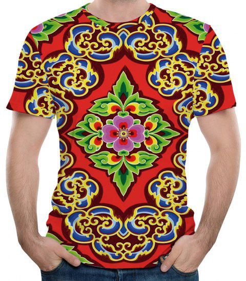 Nouveau T-shirt à manches courtes imprimé 3D Fashion Diamond Men - multicolor L