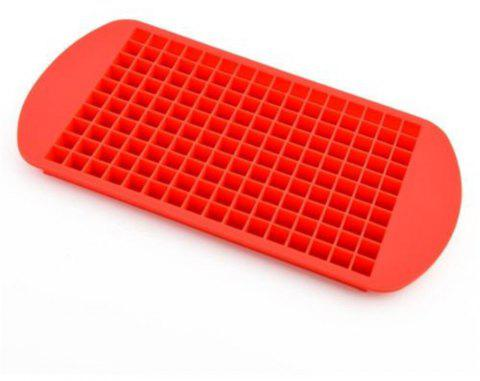 160 Grid Squares Mini Small Food Grade Silicone Ice Cube Tray - RED