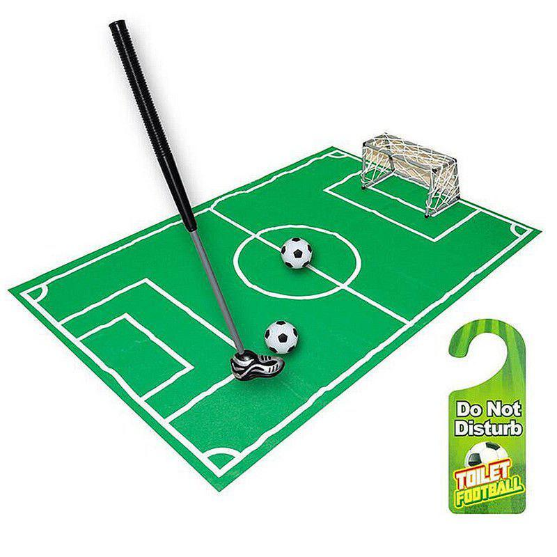 Novelty Bathroom Toilet Mini Football Goal Net Kit Trainer Funny Game Gift Toy free shipping inflatable sports toy football soccer goal post