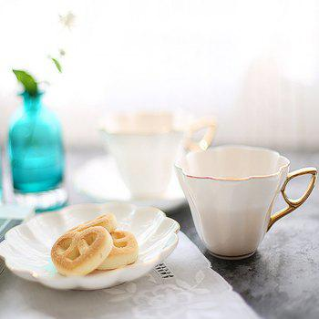 European Coffee Cup for Home Drink Afternoon Tea - WHITE