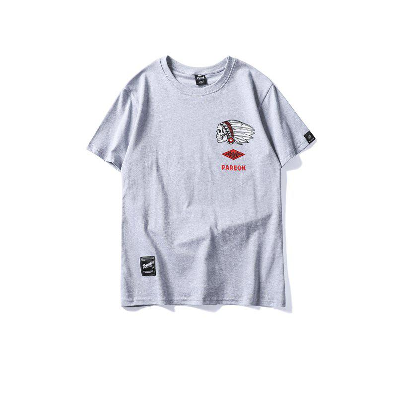 Men T-Shirt Personality Letters Pattern Street Fashion Original Design Tee T-Shi girls letters sequin tee