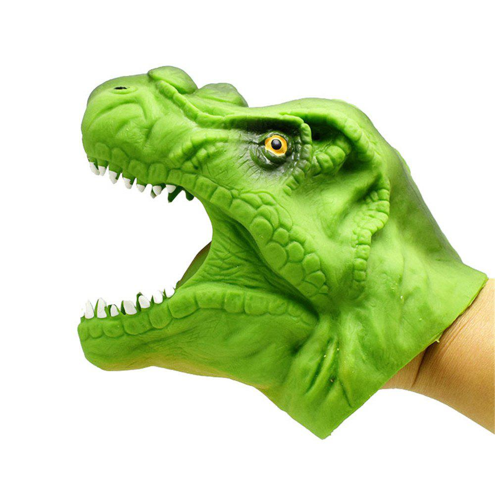 Green Soft Dinosaur Hand Puppet Tyrannosaurus Gloves Toys Model Gift 1 jurassic world tyrannosaurus building blocks jurrassic dinosaur house games ninja brick toys for children baby gift speelgoed