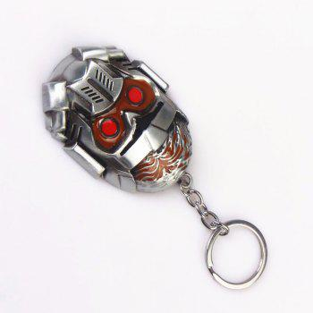 Fashion Personality Mask Key Chain - multicolor