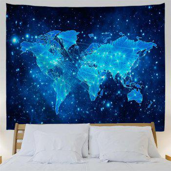 Blue Sky Map 3D Printing Home Wall Hanging Tapestry for Decoration - multicolor A W230CMXL180CM
