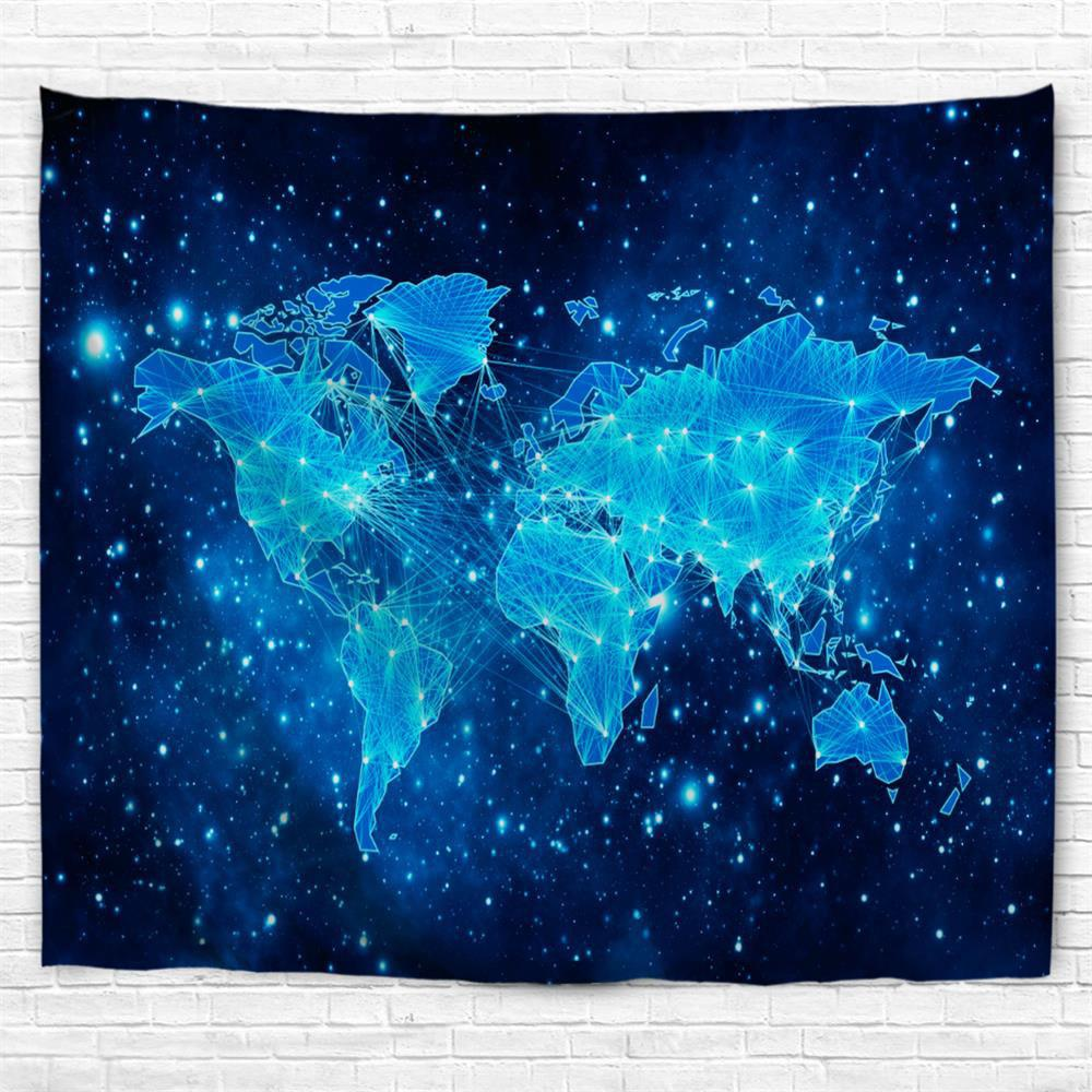 Blue Sky Map 3D Printing Home Wall Hanging Tapestry for Decoration centipede swat team atari vintage style junk food soft video game t shirt