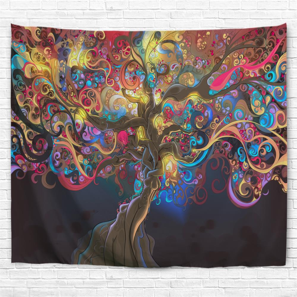 Colorful Trees 3D Printing Home Wall Hanging Tapestry for Decoration colorful trees 3d printing home wall hanging tapestry for decoration