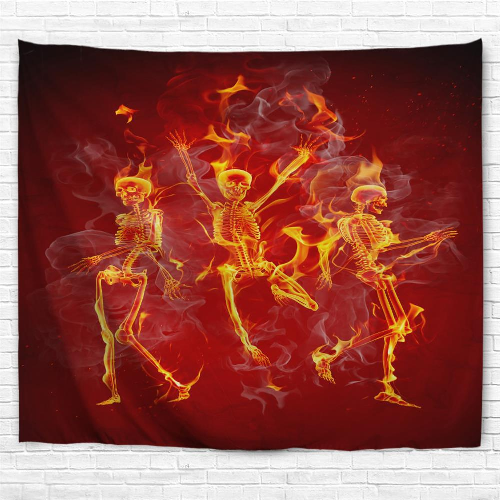 Dancing Skeleton 3D Printing Home Wall Hanging Tapestry for Decoration цена