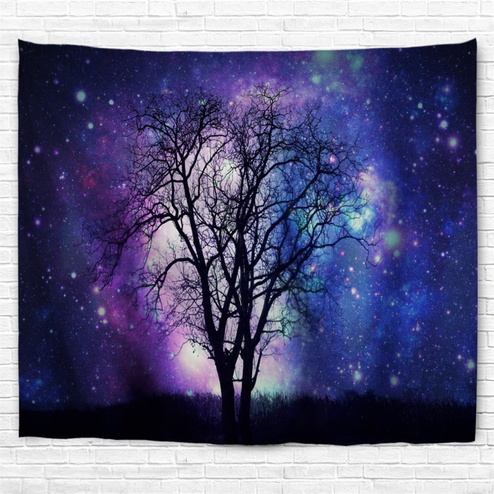 Star Tree Shadow 3D Printing Home Wall Hanging Tapestry for Decoration - multicolor A W230CMXL180CM