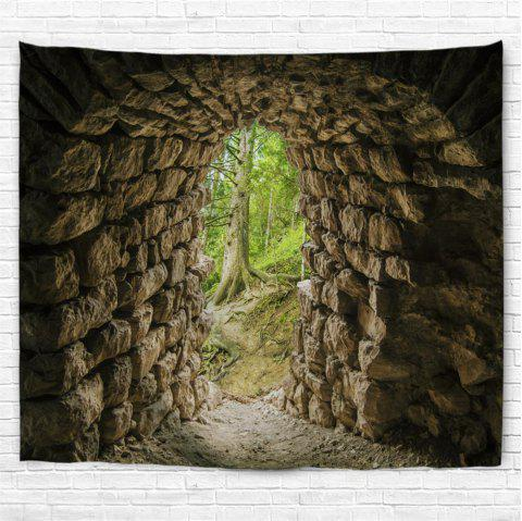 Tunnel Entrance 3D Printing Home Wall Hanging Tapestry for Decoration - multicolor A W230CMXL180CM