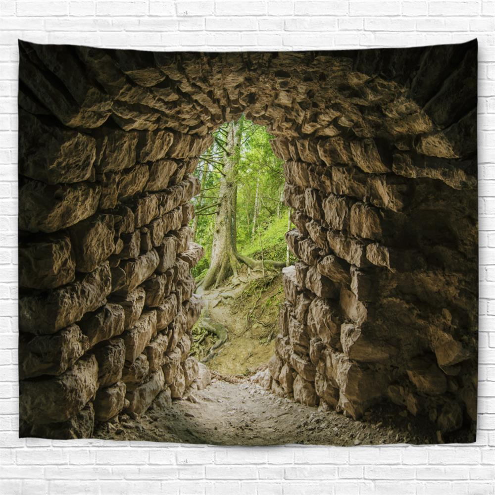Tunnel Entrance 3D Printing Home Wall Hanging Tapestry for Decoration new inflatable bouncer bounce house with obstacle inflatble slide tunnel climbing wall trampoline for kids jumper castle
