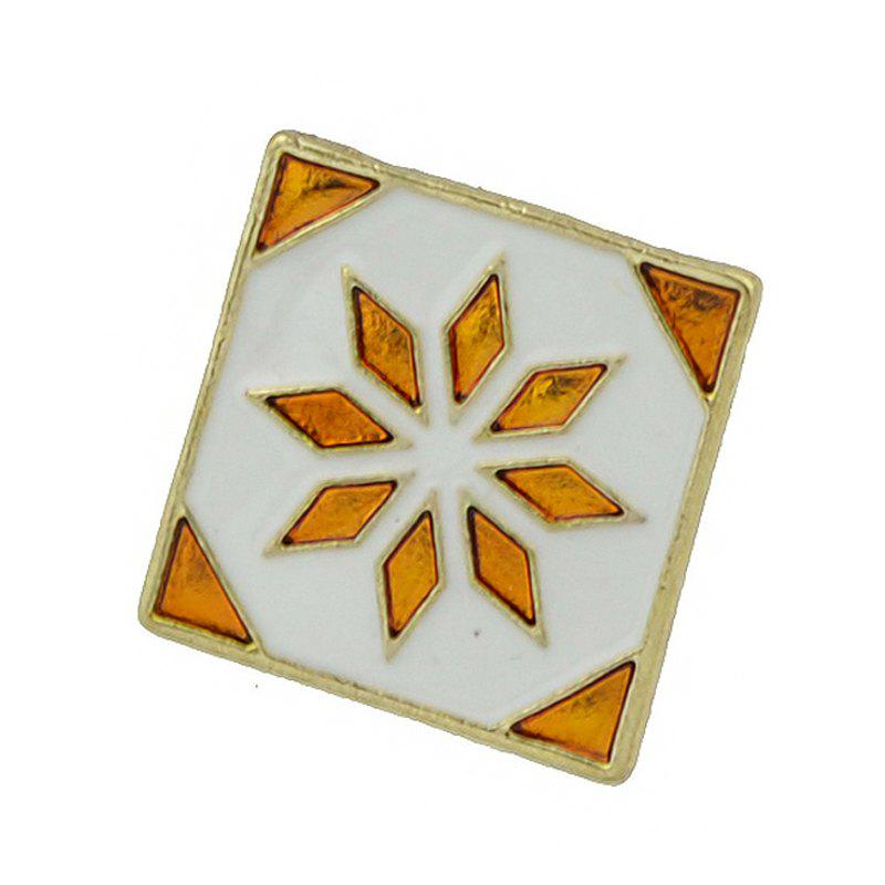 Enamel Square Brooch with Colorful Flower Pattern colorful flower pattern barrettes hair clip