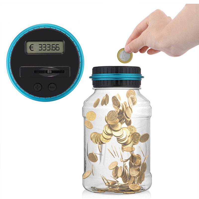 Electronic Digital Counting Coin Money Saving Box LCD Display Piggy Bank EURO pressure switch dro dpa01m p electronic digital display