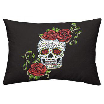 AS86-B Rose Fear Personality Decorative Pattern Bedding Set - BLACK FULL