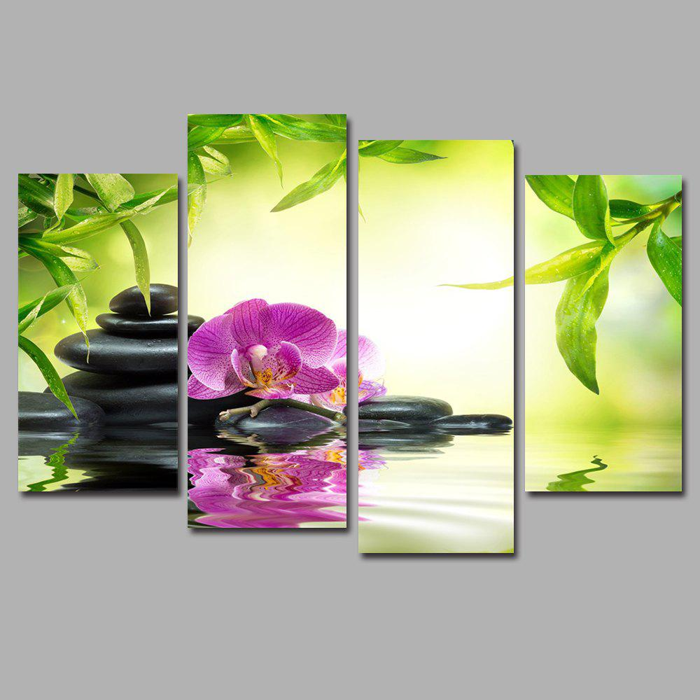 Orchid Stone Shadow Frameless Printed Canvas Art Print 4PCS art stone art stone sar010