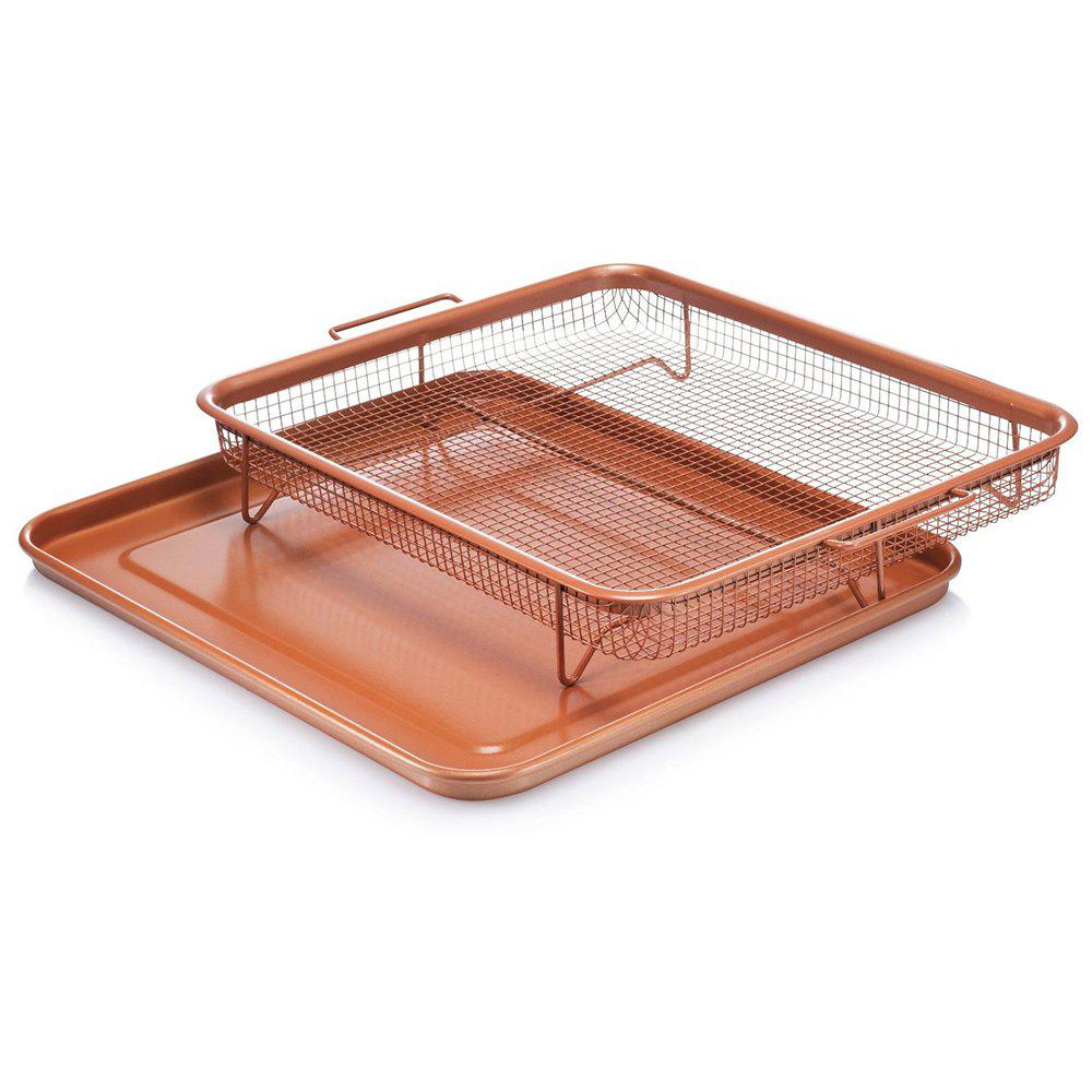 Stainless Steel Crisper Non-Stick Oven Mesh Baking Tray Chips Crisping Basket commercial non stick 110v 220v electric 4pcs lolly waffle on a stick maker iron machine with drip tray