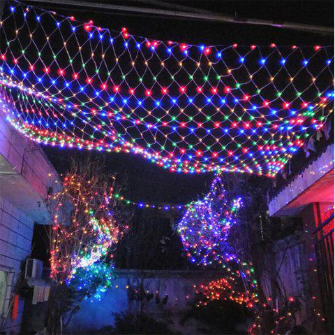96 leds fairy fishing mesh net string lighting outdoor party festival decoration multicolor