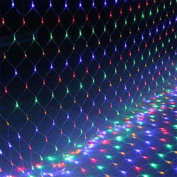 96 LEDs Fairy Fishing Mesh Net String Lighting Outdoor Party Festival Decoration - multicolor