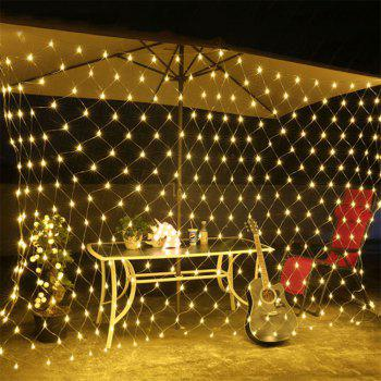 96 LEDs Fairy Fishing Mesh Net String Lighting Outdoor Party Festival Decoration - WARM WHITE