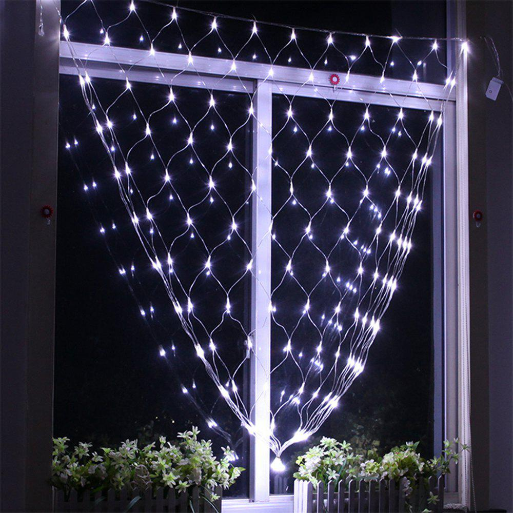 96 LEDs Fairy Fishing Mesh Net String Lighting Outdoor Party Festival Decoration - COOL WHITE