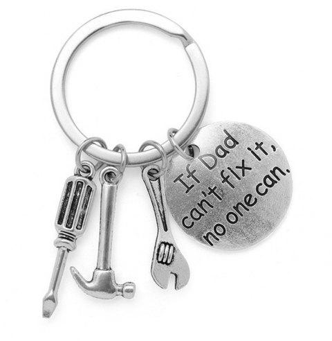 Key Chain Keyring for Fashion Jewelry Father Day Gift - SILVER TYPED