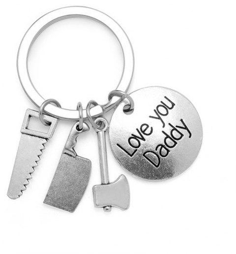 Key Chain Keyring for Fashion Jewelry Father Day Gift - SILVER TYPEE