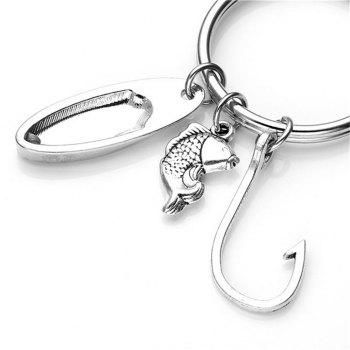 Key Chain Keyring for Fashion Jewelry Father Day Gift - SILVER TYPEA