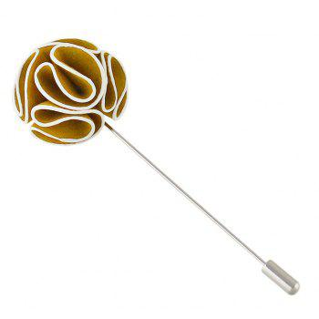Colorful Suede Fabric Flower Brooches - GOLDEN BROWN
